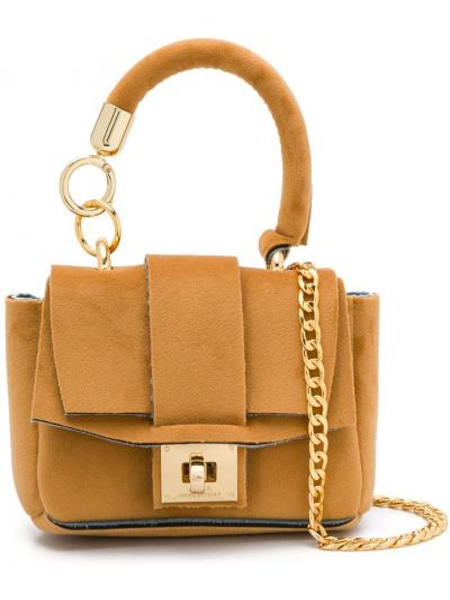 Бежевая сумка на цепочке из верблюжьей шерсти Alila