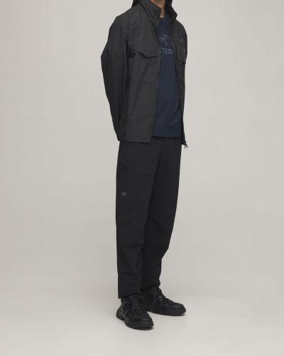 Czarne spodnie z paskiem Arcteryx