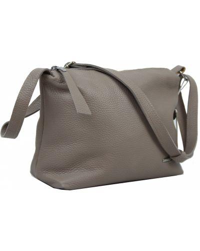 Кожаная сумка - бежевая Borsacomoda