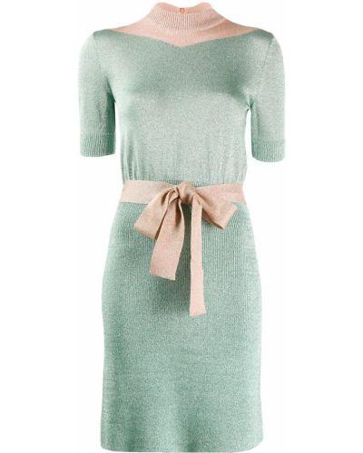 Платье мини бирюзовый с глиттером Missoni