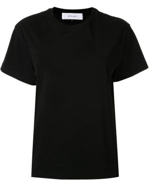 Хлопковая футболка - черная Le Ciel Bleu