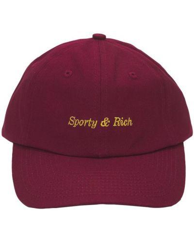 С ремешком фиолетовая шапка с вышивкой Sporty And Rich