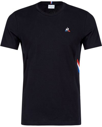 Хлопковая футболка - черная Le Coq Sportif