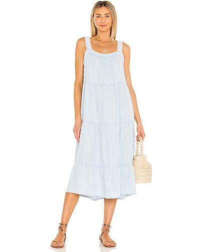 Синее платье винтажное с разрезом Rails