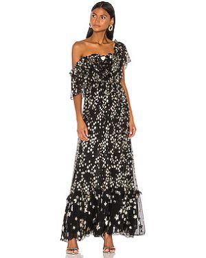 Черное платье на молнии из вискозы с подкладкой Loveshackfancy
