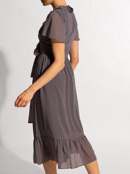 Прямое платье миди с вырезом с короткими рукавами Michael Kors