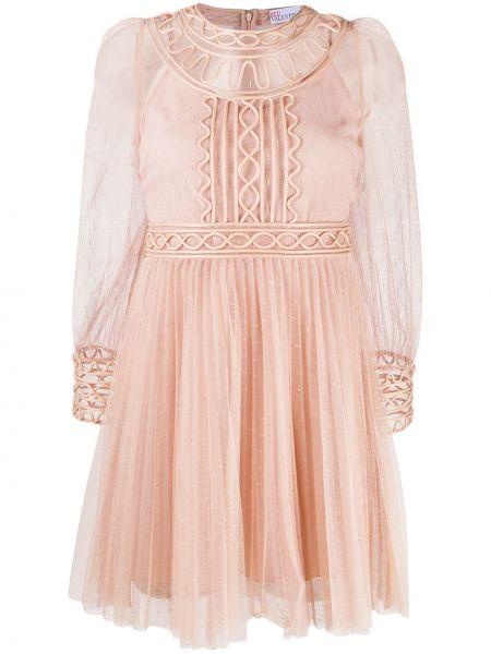 Sukienka mini z długimi rękawami z siateczką Redvalentino