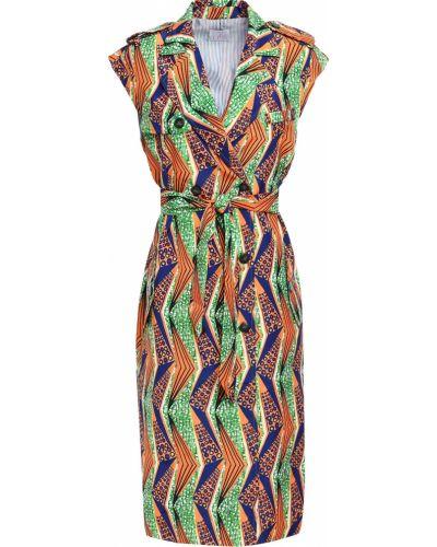 Оранжевое платье с подкладкой из крепа Stella Jean