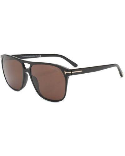 Солнцезащитные очки черные плоский Tom Ford