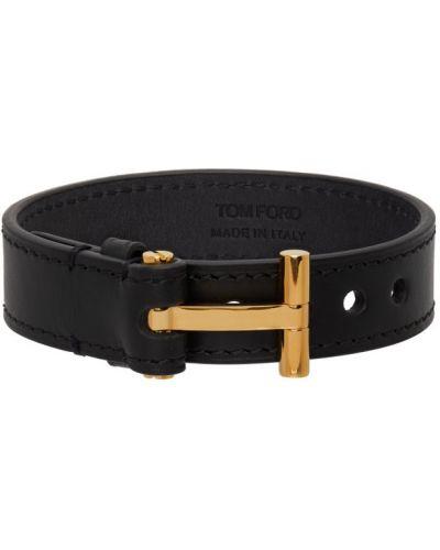 Czarna złota bransoletka ze złota klamry Tom Ford