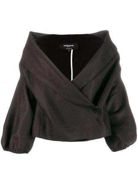 Черный короткая куртка с запахом Rochas