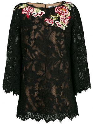Кружевная блузка - черная Marchesa