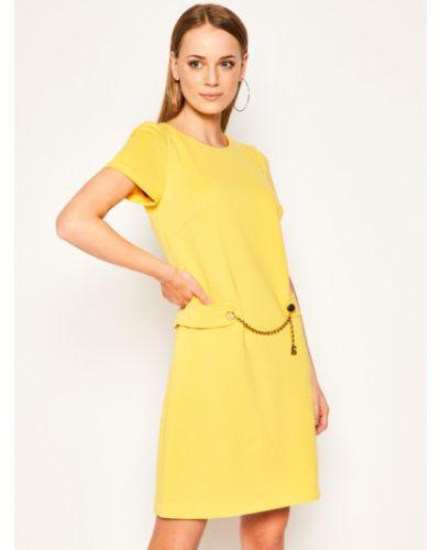 Żółta sukienka casual Luisa Spagnoli