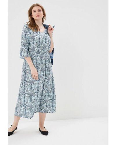 Платье весеннее бирюзовый Ulla Popken