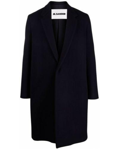 Niebieski płaszcz Jil Sander