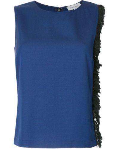 Топ с бахромой - синий Ck Calvin Klein