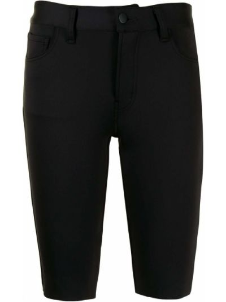 Джинсовые шорты на молнии - черные J Brand