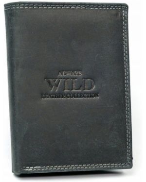 Czarny portfel skórzany elegancki Always Wild