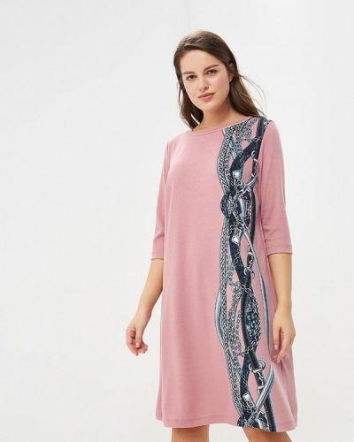 Повседневное платье розовое осеннее Zarus`