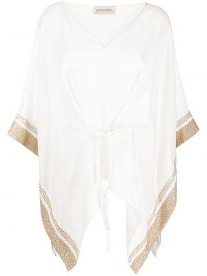 Вязаный кардиган белый с вышивкой Gentry Portofino