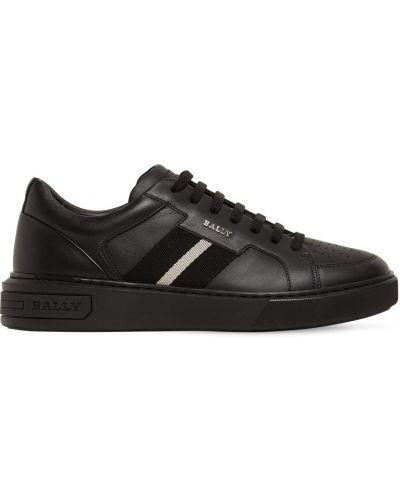 Кожаные кроссовки - черные Bally