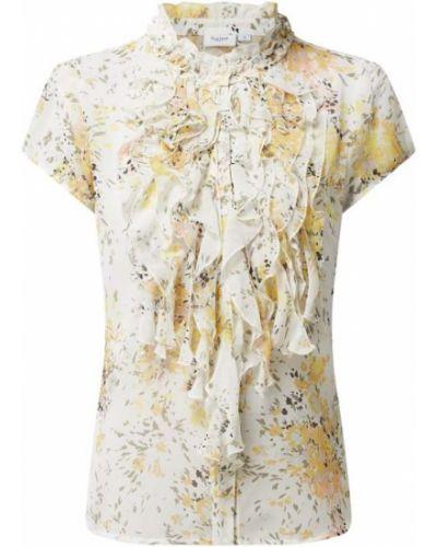 Bluzka z falbaną z falbanami - biała Saint Tropez