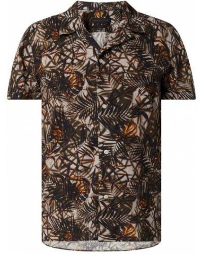Beżowa koszula krótki rękaw bawełniana Drykorn