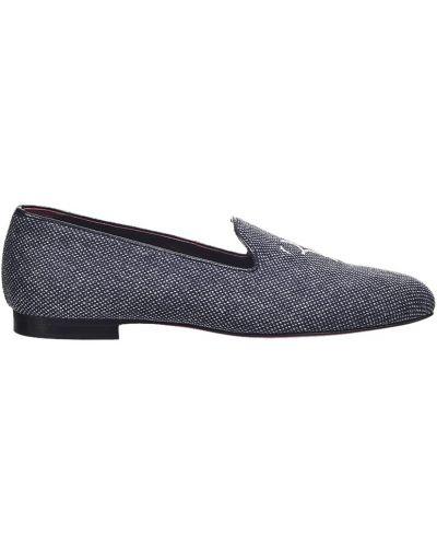 Кожаные туфли - синие Billionaire