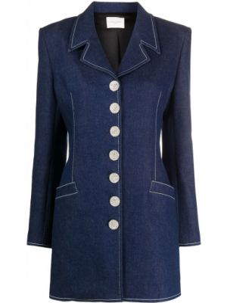 Синий джинсовая куртка на пуговицах с лацканами Giuseppe Di Morabito