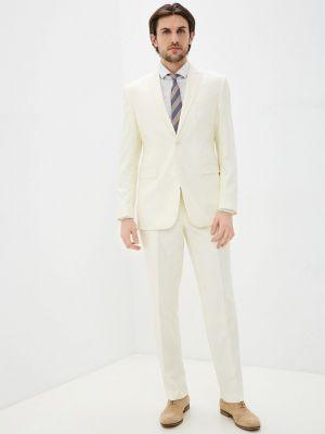Костюмный бежевый костюм классический Absolutex