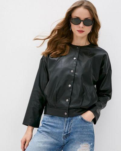 Черная кожаная куртка Vittoria Vicci