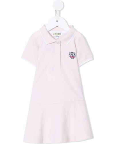 Klasyczna różowa sukienka mini krótki rękaw Kenzo Kids