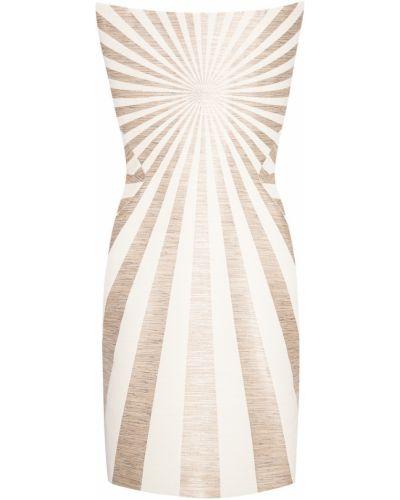 Платье мини короткое - бежевое Gareth Pugh