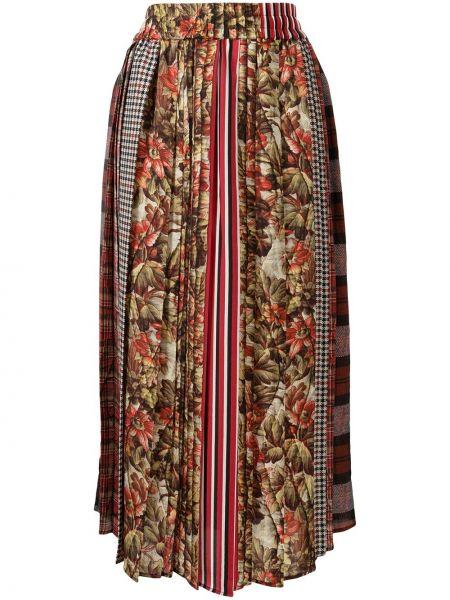 Красная разноцветная юбка Pierre-louis Mascia