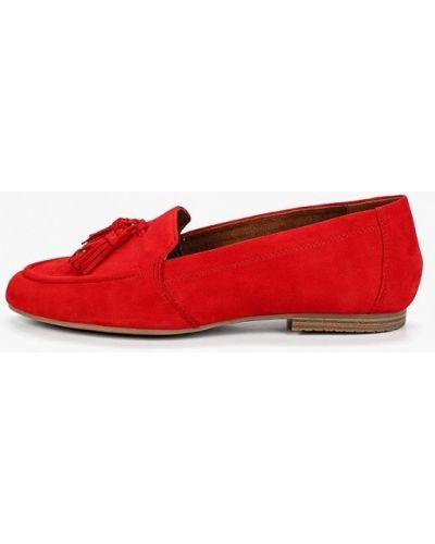 Красные мокасины Tamaris
