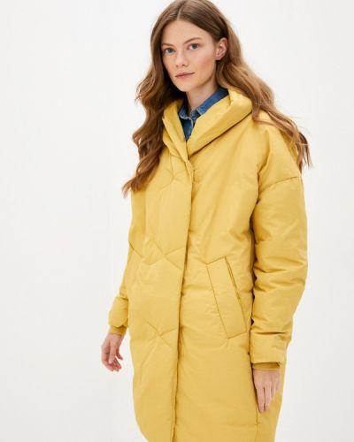 Теплая желтая утепленная куртка Liana