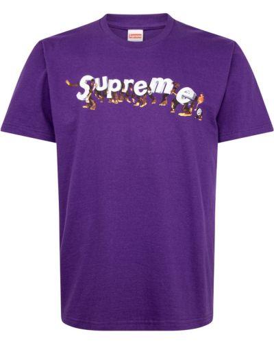 T-shirt bawełniana z printem krótki rękaw Supreme