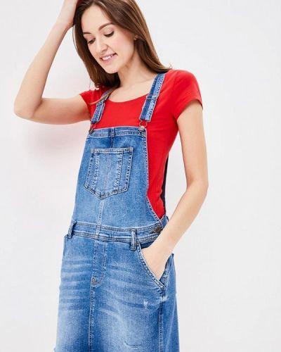 Джинсовое платье весеннее синее Q/s Designed By