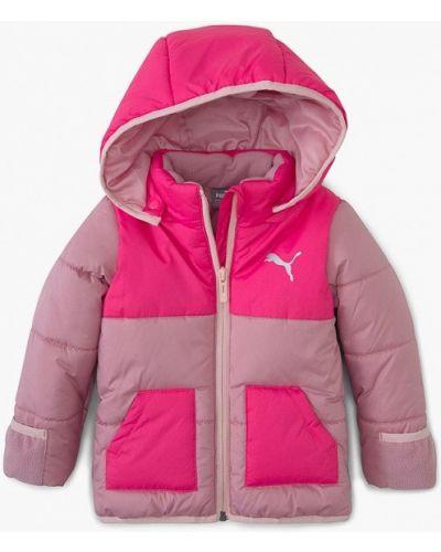 Утепленная розовая куртка Puma