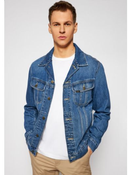 Kurtka jeansowa - granatowa Lee