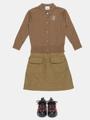 Beżowa spódnica pikowana Burberry Kids