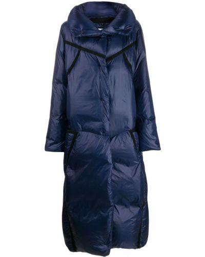 Синее пуховое длинное пальто с капюшоном Dorothee Schumacher