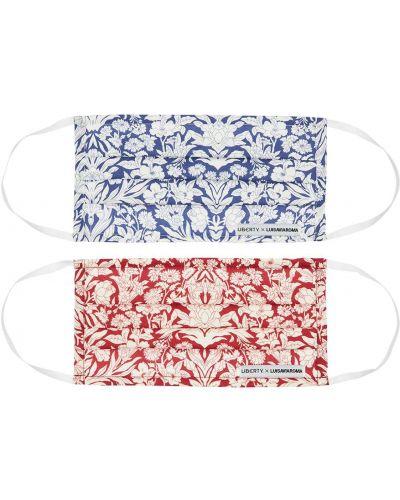 Niebieski bezpłatne cięcie bawełna maska do rąk elastyczny Liberty