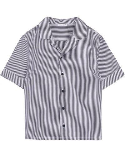 Рубашка черная в полоску Dolce & Gabbana