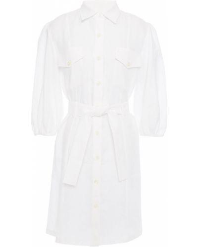 Льняное платье мини - белое Paul & Joe