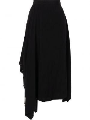 Черная юбка с карманами Y`s