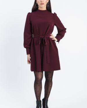 Платье мини бордовый через плечо Lacywear