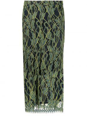Хлопковая зеленая прямая юбка миди Roseanna