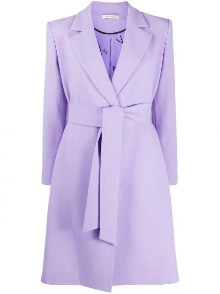 Bawełna bawełna fioletowy krawat z mankietami Alice+olivia