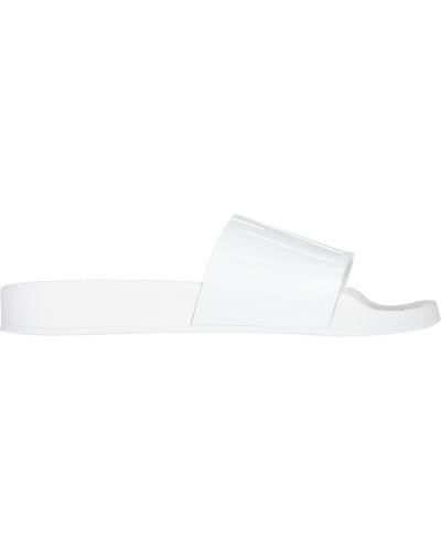 Резиновые шлепанцы - белые Jimmy Choo